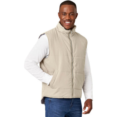 The Khaki Mens Rego Bodywarmer Is Made From 100% Polyester And Taffeta. The Bodywarmer Inlcudes A Wind Placket, Two Hand Pockets. Two Interior Pockets With Velcro Closure And A Hanging Loop.