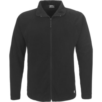 The Mens Storm Micro Fleece Jacket in the colour black is made from 100% polyester anti-pill treated micro fleece with raglan sleeves and two hand zip pockets.