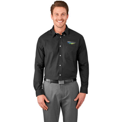 The Mens Long Sleeve Aspen Shirt is made from 70% cotton & 30% polyester Oxford fabric. With a relaxed fit.