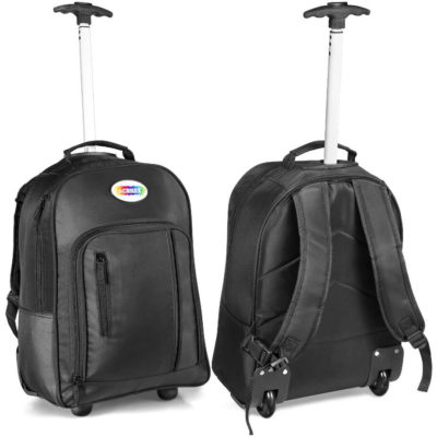 """The Challenger Tech Trolley Backpack holds most 15.6"""" laptops with a telescoping handle and zip compartments."""