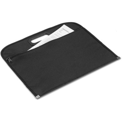 The Verve Document Pouch is a 600D polyester pouch with a zip closure thats ideal for storing documents