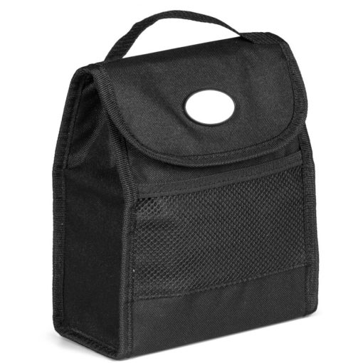 The black Foldz Lunch Cooler That Can Fold Flat For Easy Handling