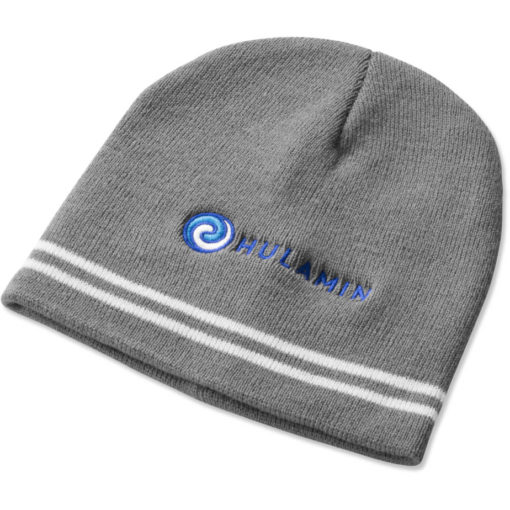 The Team Colours Beanie is made from an acrylic rib knit material in Grey.