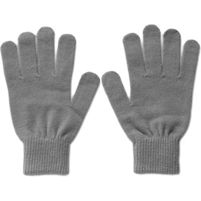 The Team Gloves made of Acrylic Rib Knit in Grey.