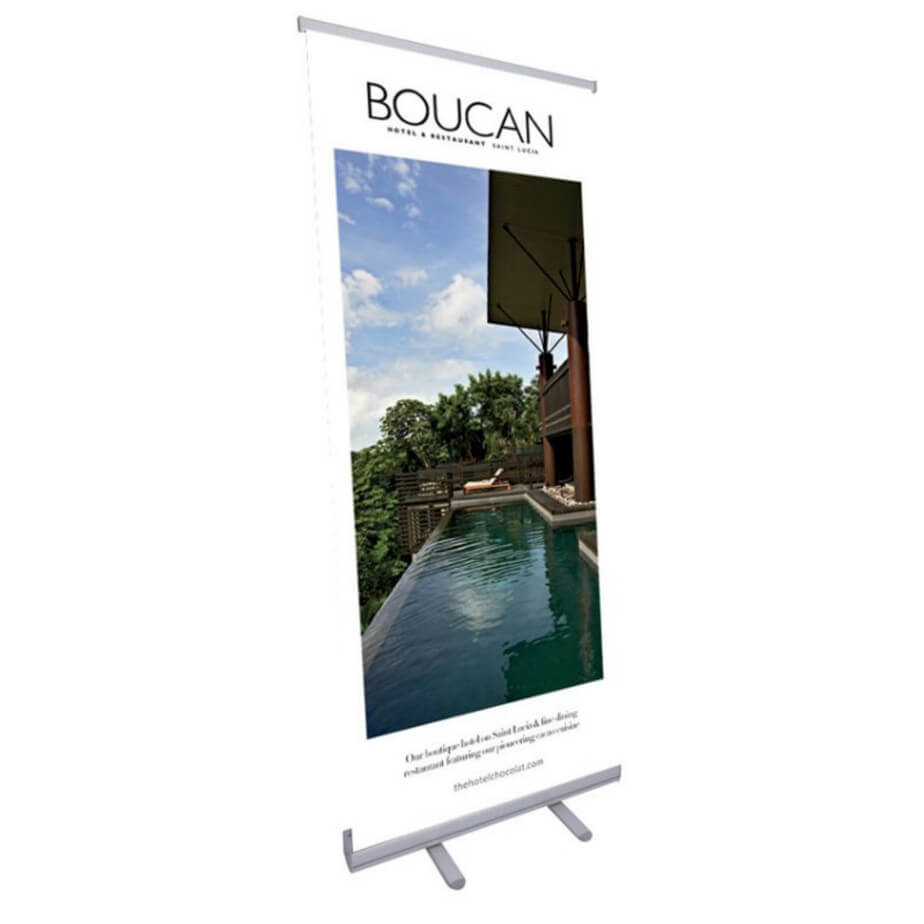 The Economy Roller Banner 80 x 210 cm Is Made From PVC, Fabric Or PET. The Banner Comes With A Durable Carry Bag.