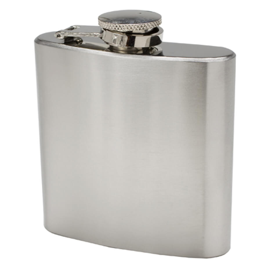 The Stainless Steel Hip Flask Is Packaged In A Gift Box.
