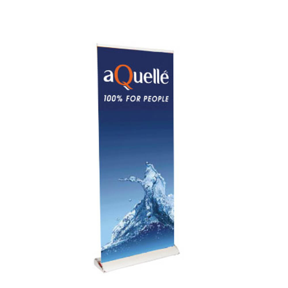 delux roller banner with Various Banner Formats, Robust Plastic Caps Protect The Roll-Up Body