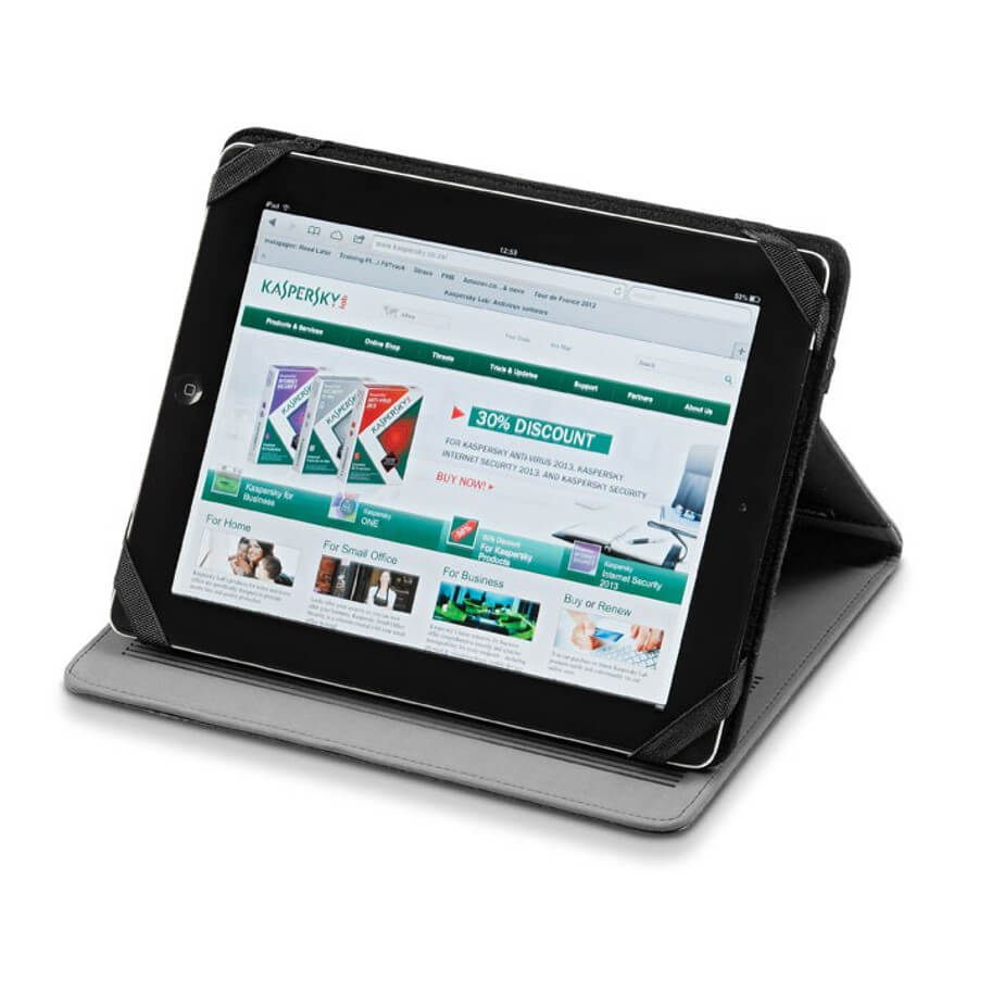 The Hype Tablet Stand Is Made From Stimulated Leather. The Stand Can Fit An iPad 2,3 And 4.