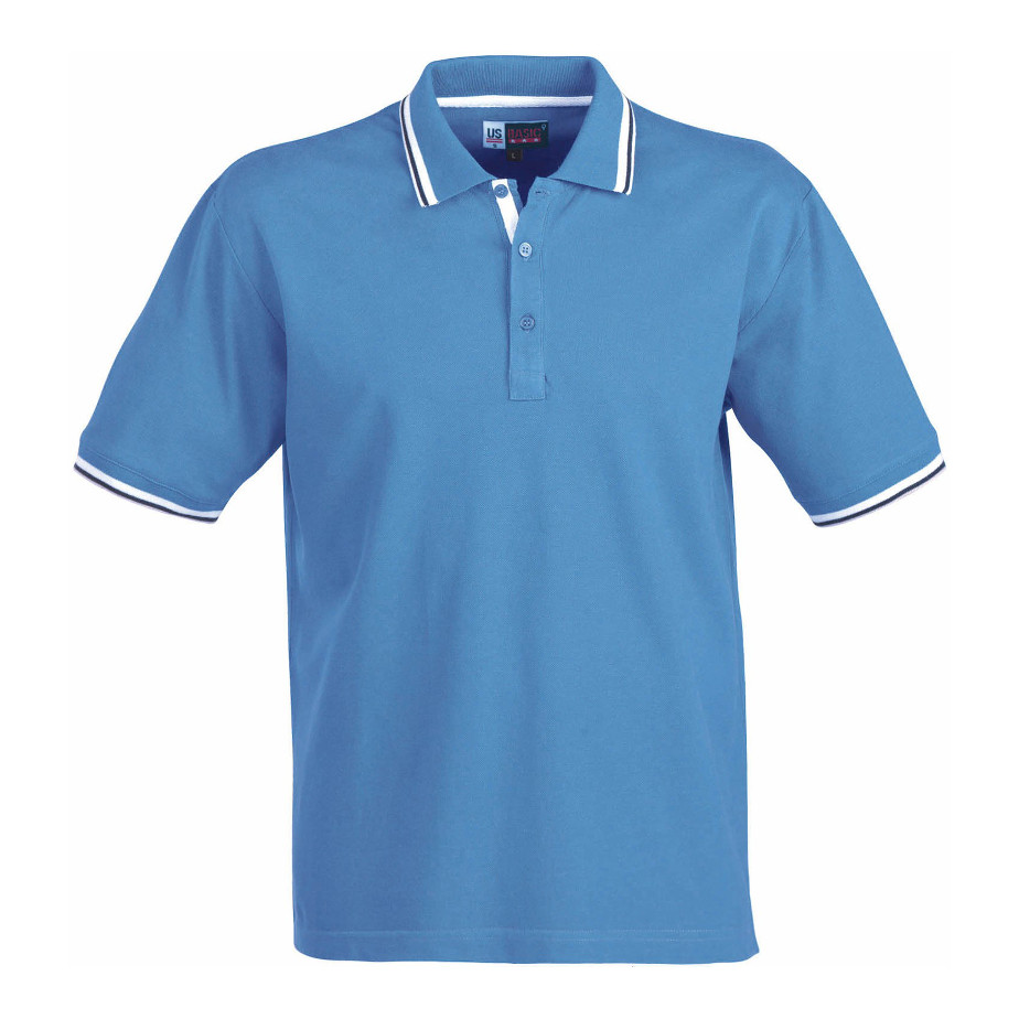 The Blue City Mens Golf Shirt Is Made From 100% Combed Cotton. The Shirt Includes Flat Knit Rib Collar, Two Tone Tipping At Collar & Cuffs, Contrast Herringbone Neck Tape And Side Slits With Contrast Inner Herringbone Tape.