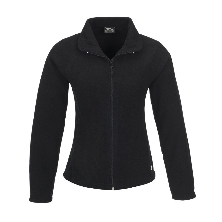 The Black Storm Ladies Micro Fleece Jacket Is Made From 100% Polyester. The Jacket Includes Raglan Sleeves, Two Hand Pockets With Zips, Elastic Cord With Stoppers In Bottom Hem And Zip Pullers.