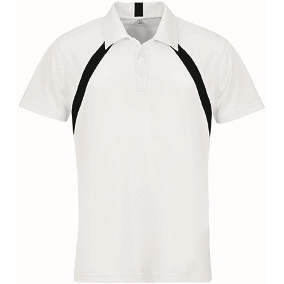 Black Jebel Mens Golf Shirt Is Made From 100% Cool Ft Pique Knit Polyester.