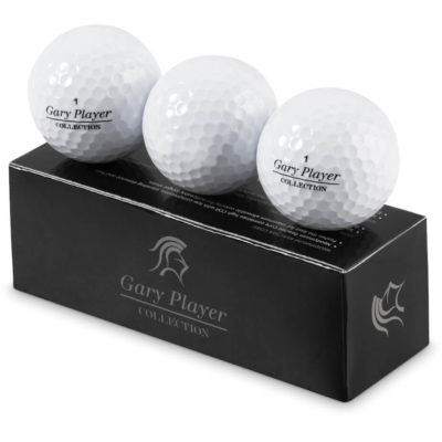 The Gary Player Soft Feel Golf Balls is made from surlyn & rubber with a ionomer responsive cover and a dual radius simple pattern for aerodynamics. Packed in a presentation box.