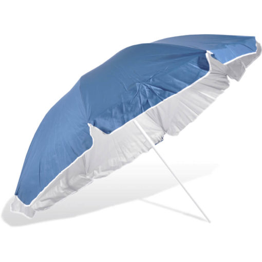 The ST-36 Beach Umbrella is a navy 8 panel umbrella, with a steel pole and rub framework and open tilt function
