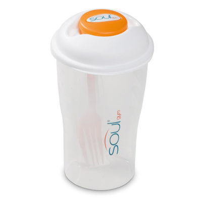 The Orange Crave Food Capsule is BPA free with a 800ml capacity, includes a coloured cup and fork. This is perfect for on the go.