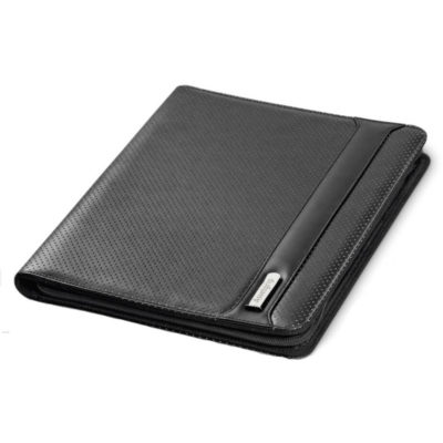 The Aristocrat A4 Zip-Around Folder is a PU and PVC folder with a business card holder, id holder, USB loop, pen loop and a writing pad