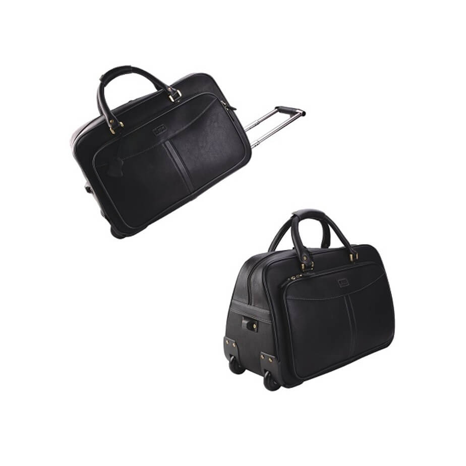 Monaco Rolling Duffel Bag on Wheels Available In Black
