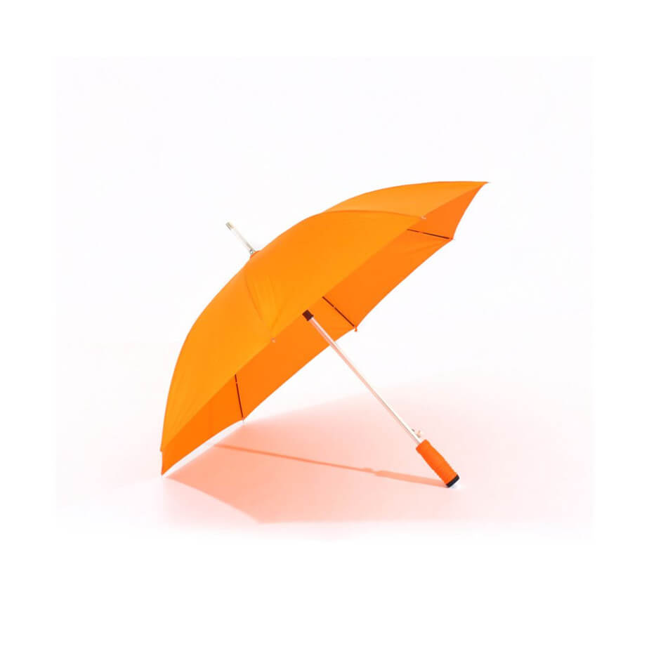 The Orange ST 57 Golf Umbrella Is Made From Polyester Nylon. Features Include An 8 Panel Umbrella.