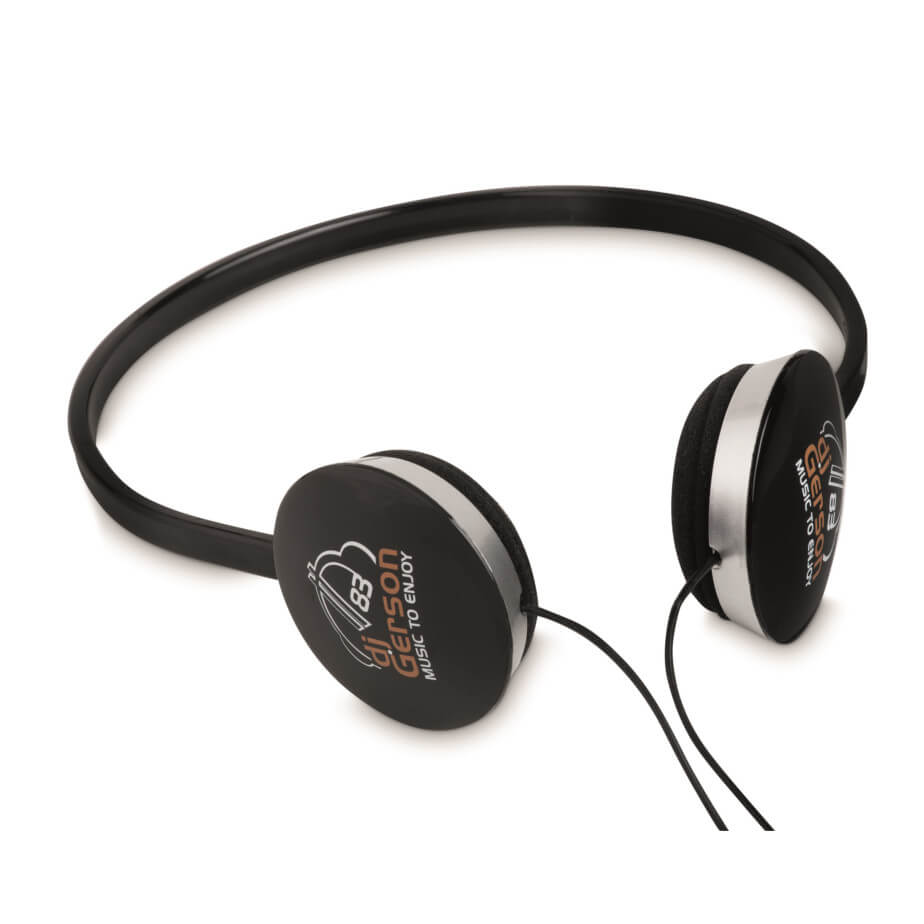 The Black Tempo Headphones Is Made From ABS. The Headphones Are Compatible With All Audio Devices.