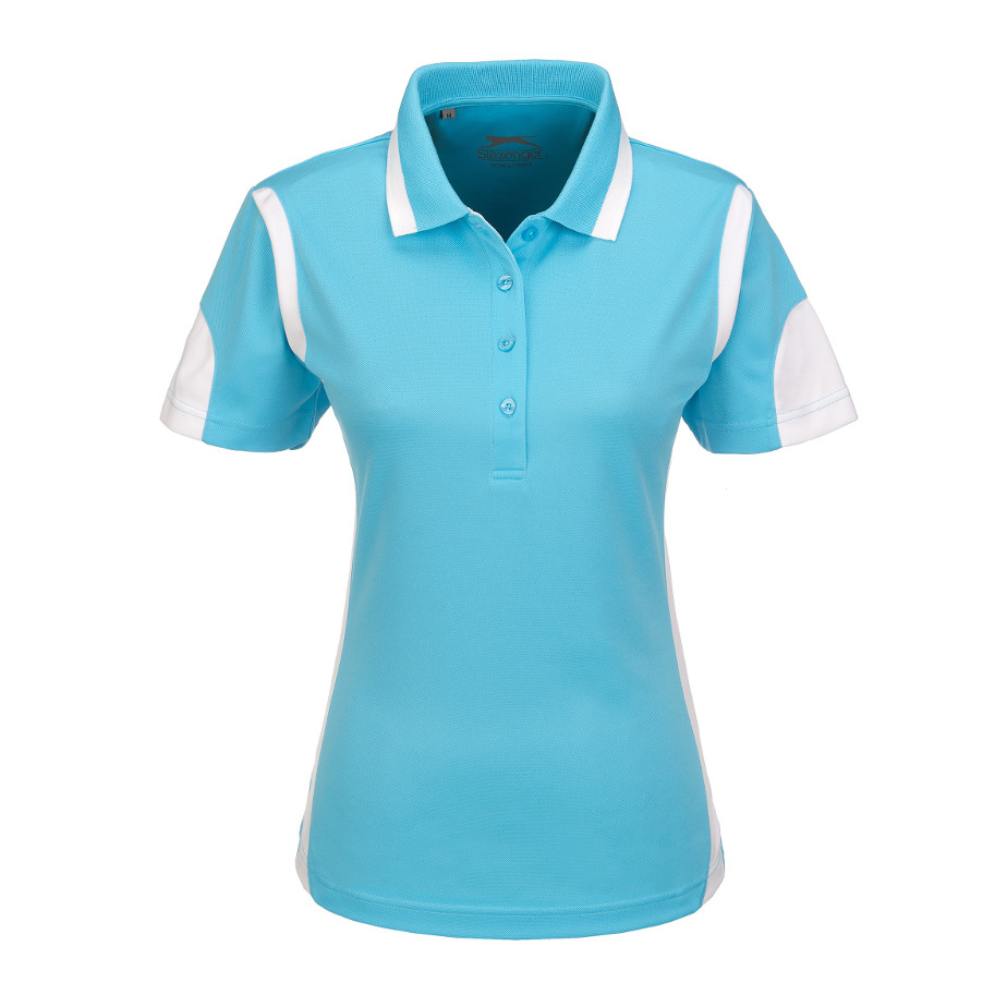 Aqua Genesis Ladies Golf Shirt Is Made From 100% Cool Fit Pique.
