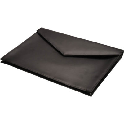 The Ascot Leather A4 Document Holder Open is a rectangular shaped A4 folder that looks like an envelope made from leather.
