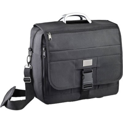 The Black Bankers Laptop Bag Is Made From 600 Denier. The Bag Is Perfect For Business And Leisure Travel.