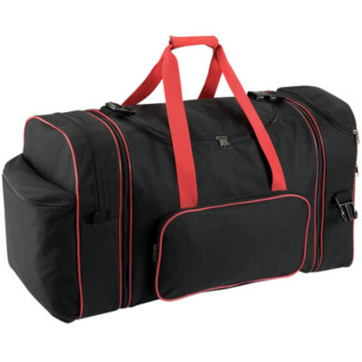 The Red 4 In 1 Travel Bag Features A Tote Bag, Boot Bag And A Backpack That Can Be Zippered.