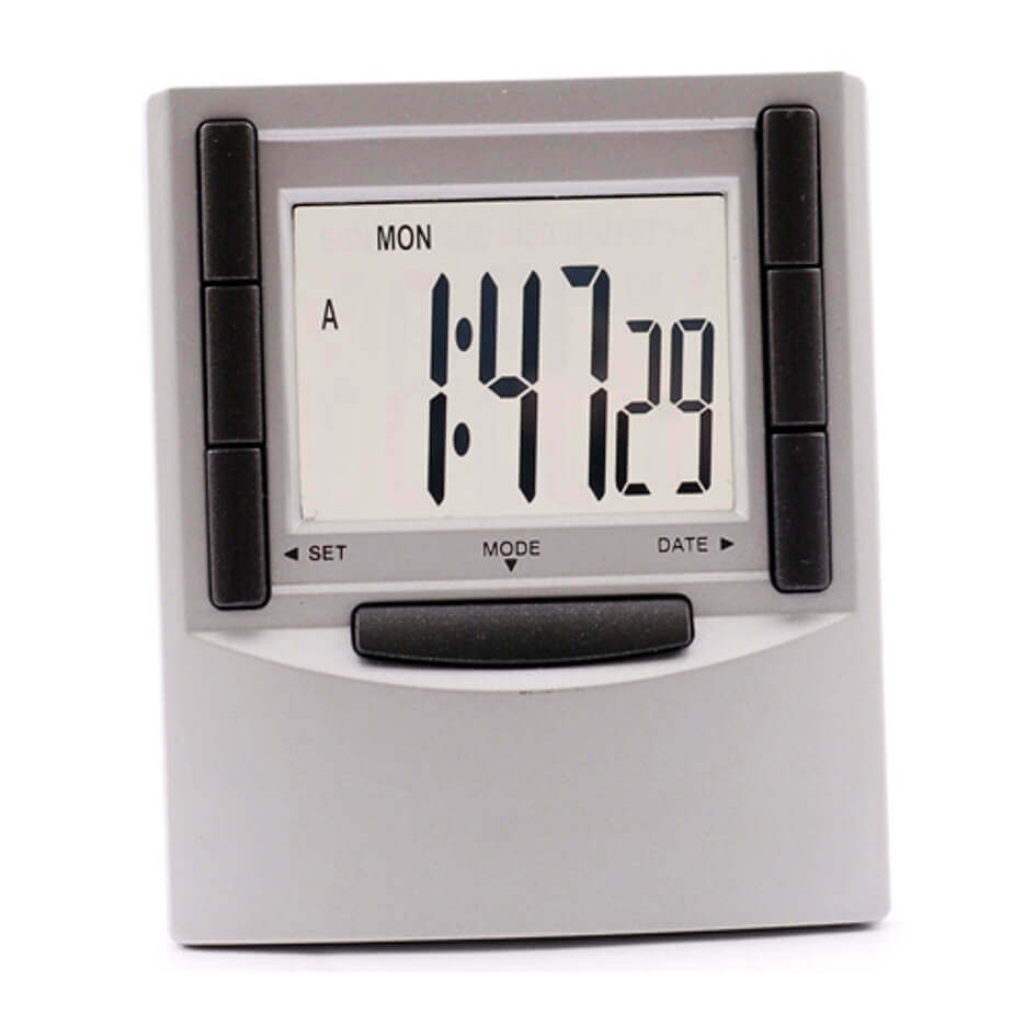 Column LCD Alarm Clock Is Made From Plastic. The Alarm Includes Batteries And Comes In A Gift Box.