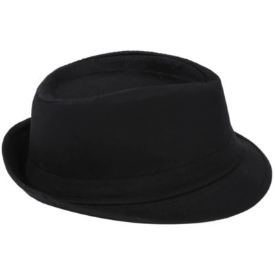 The Fedora Hat is a cotton twill headwear item with a fully lined inner, sweatband insert and a short turned up brim. Available in Black