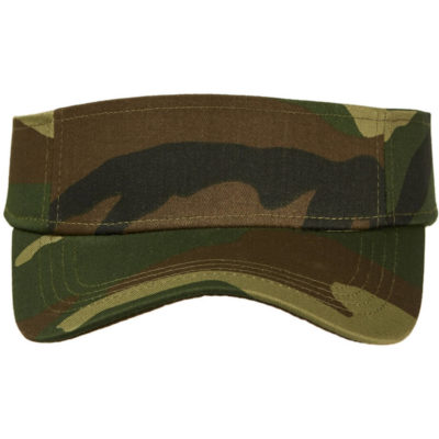 The Sunvisor Camo Cap is made from cotton twill.