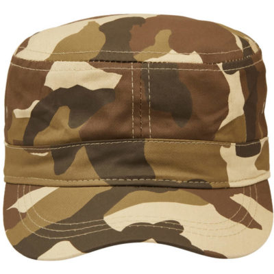 The Fidel Camo Cap in the colour brown camo is made from cotton twill with a military style
