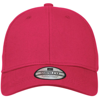 Supa Fit Cap has a pre-curved peak, embroidered eyelets and has a closed back. This cap is a stretch fit cap