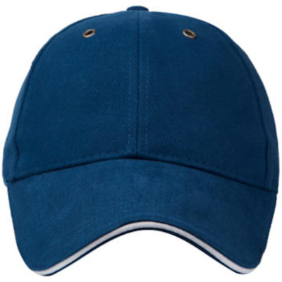 The Classic Sandwich Cap is made from a 100% heavy brushed cotton material that has a 6 panel structure, an adjustable belt buckle strap, metal eyelets and a pre-curved peak. Available in the colour royal with white detailing.