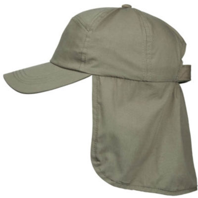 The Fisherman Cap in the colour olive is made from a UV protected polyester cotton.