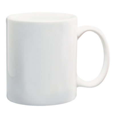 The Standard Mug in the colour white made from ceramic with a liquid capacity of 340ml.