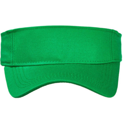 The Emerald Green Sunvisor Cap Is Made From 100% Brushed Cotton Twill With A Pre-Curved Peak And A Self Fabric Velcro Strap Closure