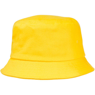 The Shady Bucket Hat in the colour yellow, is made from 100% heavy brushed cotton and has a high crown, small brim design.
