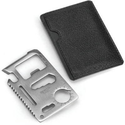 The Slim Mutli Card Tool Is A Stainless Steel Slim Pocket Tool That Features 11 Functions