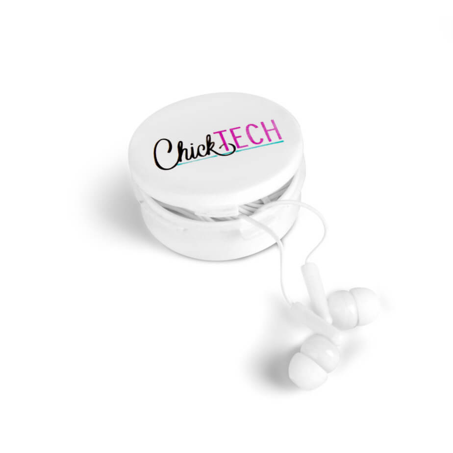 The White Acoustix Earbuds Is Made From ABS And PVC. The Earbuds Comes In A Plastic Case Having Your Own Unique Logo Customized.