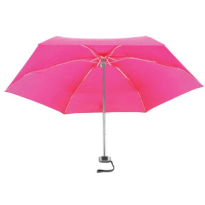 The Pocket Umbrella Pink Open