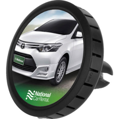 The Happy-Travels Car Vent Air Freshener has rose scented gel beads, packed inside a ABS plastic air freshener container.