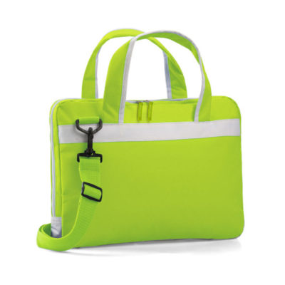 The lime Montana Laptop Bag is made from 600d. The laptop bag is the perfect business and leisure traveler.