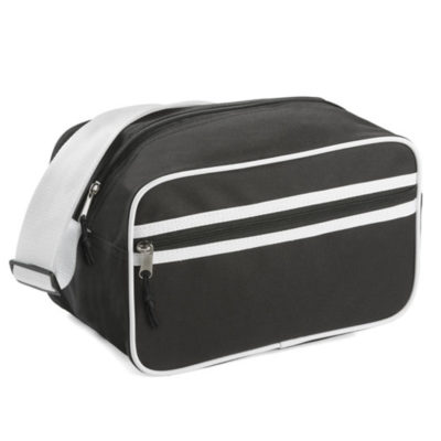 The black Deluxe Vanity Bag is perfect for business and leisure, made from 600 denier with zipped compartments.