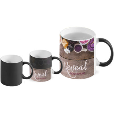 The Transition Sublimation Mug is an AB grade ceramic mug that appears black when its cold