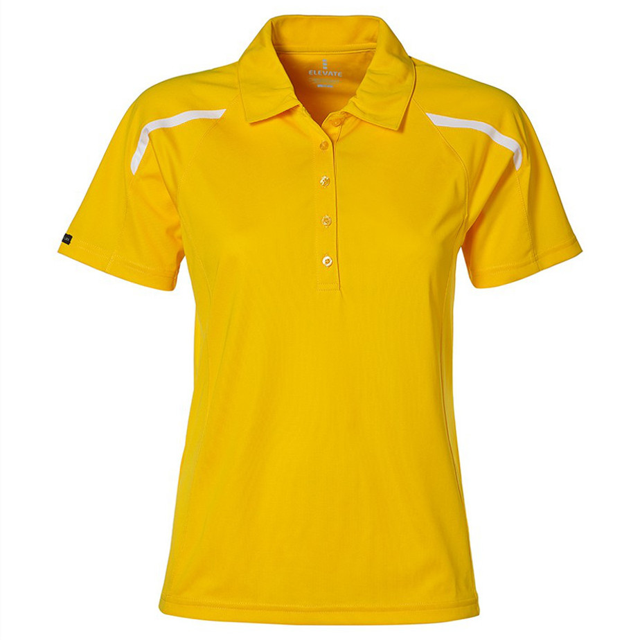 Yellow Nyos Ladies Golf Shirt Is Made From 100% Micro Polyester.