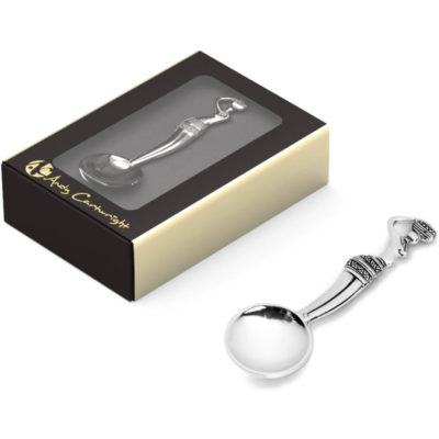 The Maiden Condiment Spoon is made from zinc & nickel which is presented in a perfectly sized box foil stamped.