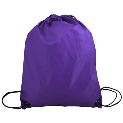 The purple blue 210D Poly String Bag Is Made From 210D Polyester. The Bag Has Reinforced Eyelets.