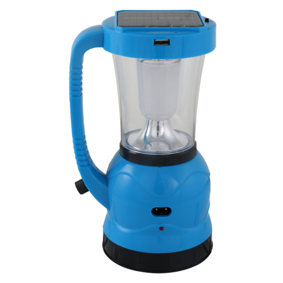 The Rechargeable Solar Lantern Includes A 700mAh Rechargeable Battery And A LED Bulb With Life Span of 100,000 Hours.