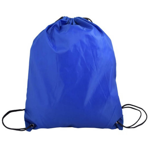 The Royal Blue 210D Poly String Bag Is Made From 210D Polyester. The Bag Has Reinforced Eyelets.