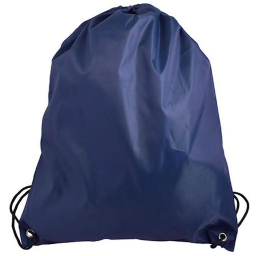 The Navy 210D Poly String Bag Is Made From 210D Polyester. The Bag Has Reinforced Eyelets.