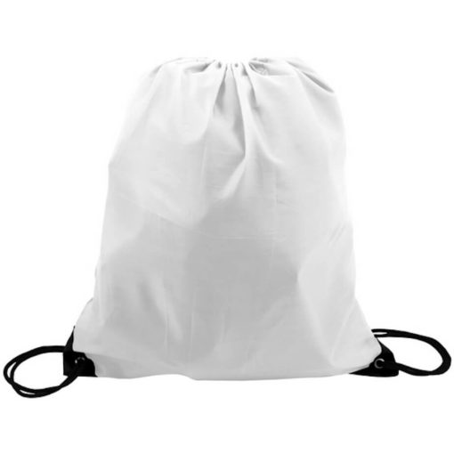 The White 210D Poly String Bag Is Made From 210D Polyester. The Bag Has Reinforced Eyelets.
